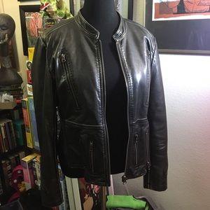 Brilliant faux leather jacket | L